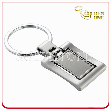 High Quality Rectangle Blank Spinning Metal Key Chain